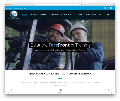 Deep premium WordPress theme - forefronttraining.co.uk
