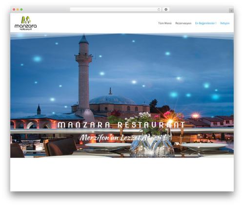 neve WordPress restaurant theme - manzararestaurant.com