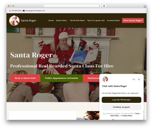 neve WordPress website template - getsantaroger.com