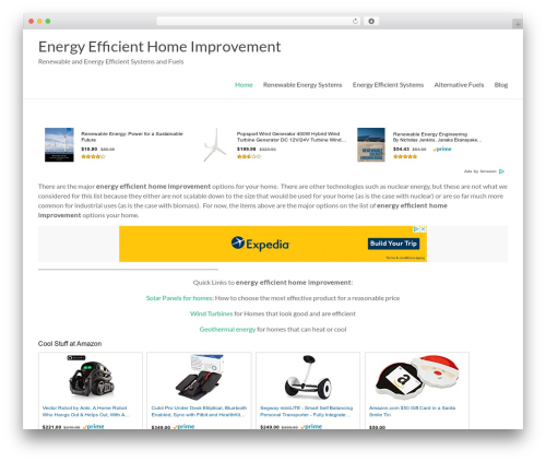 Spacious Pro WordPress theme design - energyefficienthomeimprovement.com