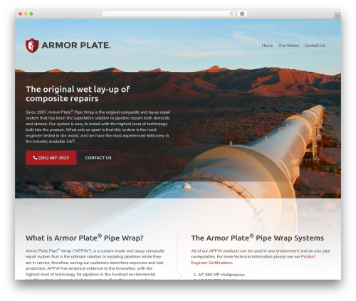 Theme WordPress Big Splash Web Design - armorplateinc.com