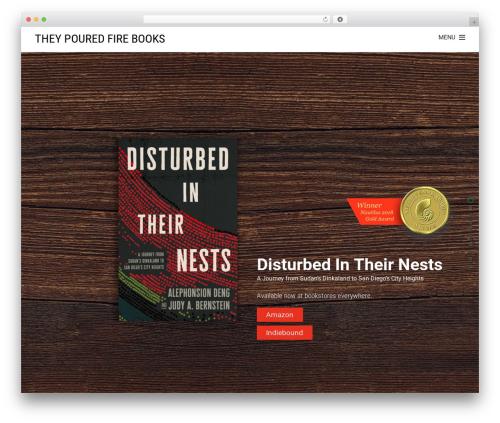 Theme WordPress Themify Fullpane - theypouredfirebooks.com