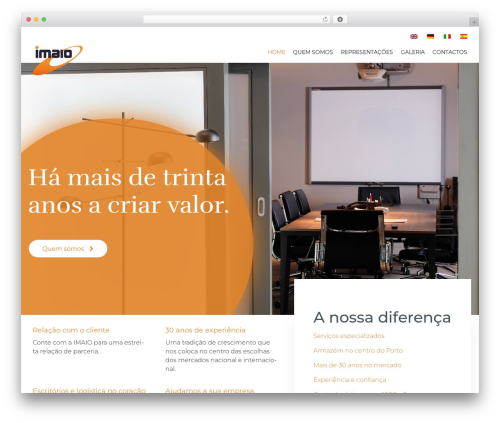 (VamTam) Consulting WordPress website template - imaio.pt