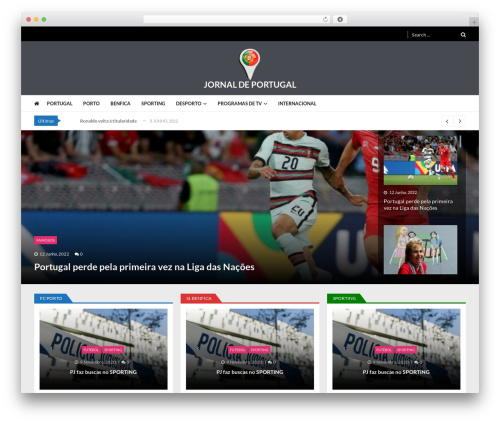 VMagazine Lite WordPress news template - jnportugal.com