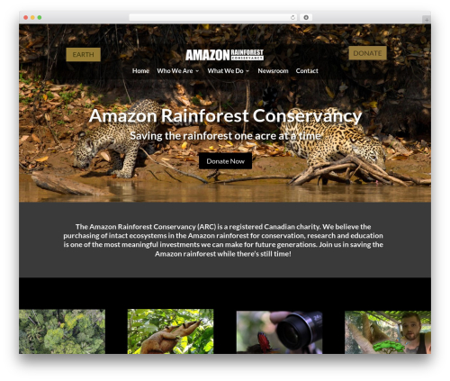 WordPress theme Divi - amazonrainforestconservancy.com