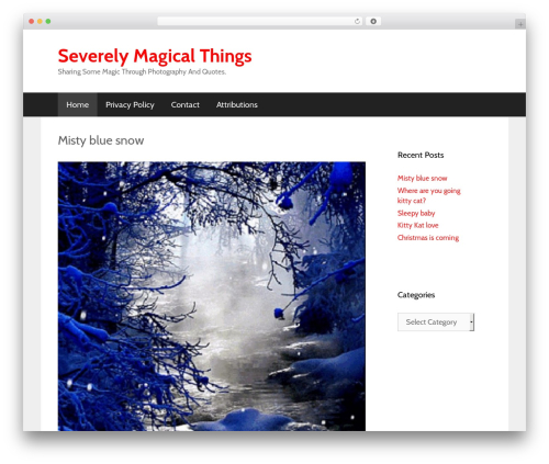 WordPress theme GeneratePress - severelymagicalthings.com