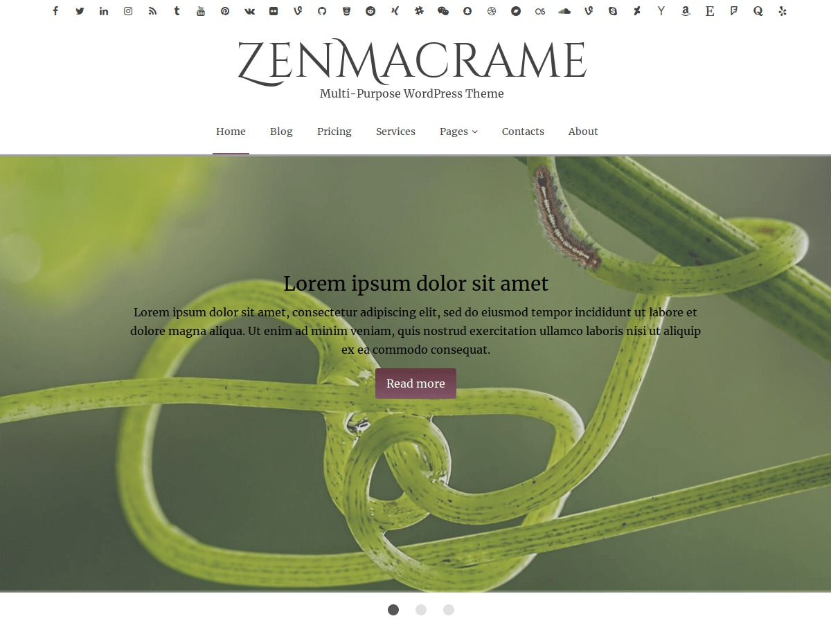 ZenMacrame WordPress ecommerce theme