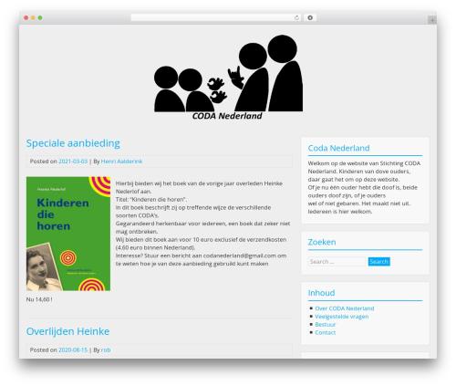 BlueGray template WordPress free - codanederland.nl