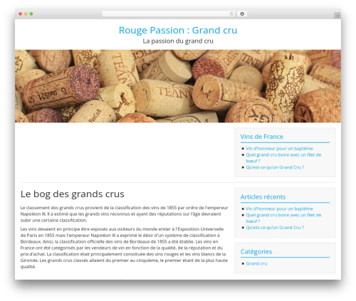 BlueGray WordPress theme download - rouge-passion.fr