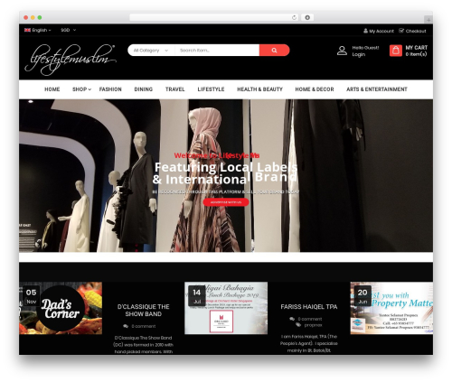 Bosmarket best WordPress magazine theme - lifestylemuslim.com