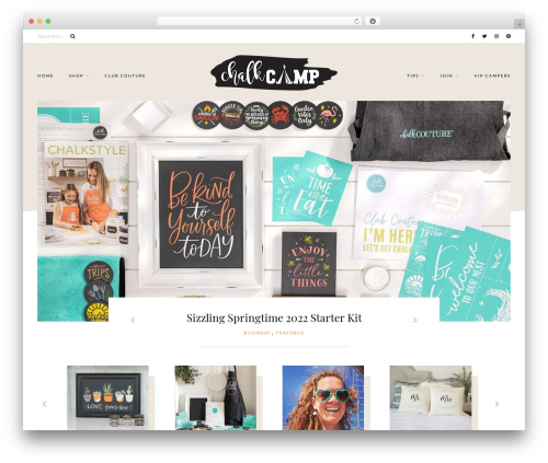 Caroline WordPress theme design - chalkcamp.com