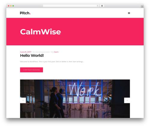 Pitch WordPress template - calmwise.com
