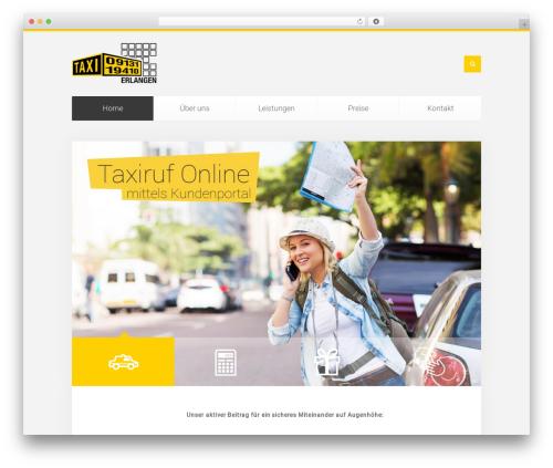 Unity WordPress theme - taxi-zentrale-erlangen.de