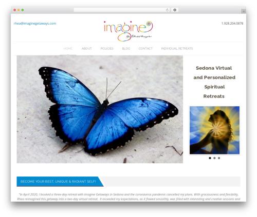 Veda best WordPress theme - imaginegetaways.com