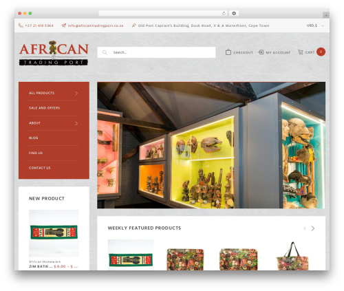Woostroid WordPress page template - africantradingport.com