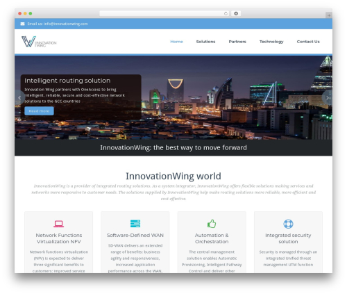 WordPress theme BusiProf Pro - innovationwing.com