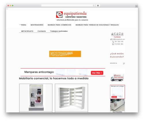 Best WordPress template Tonda - equipatienda.com
