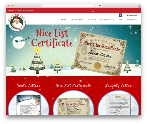 Best WordPress template Veda - santasealedletters.com