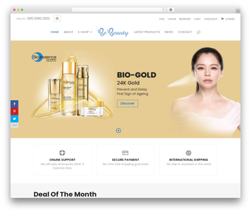 Divi best WooCommerce theme - bebeauty.com.sg
