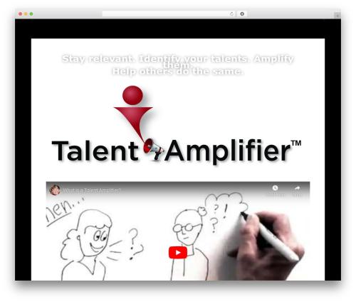 Divi WordPress page template - talentamplifier.com