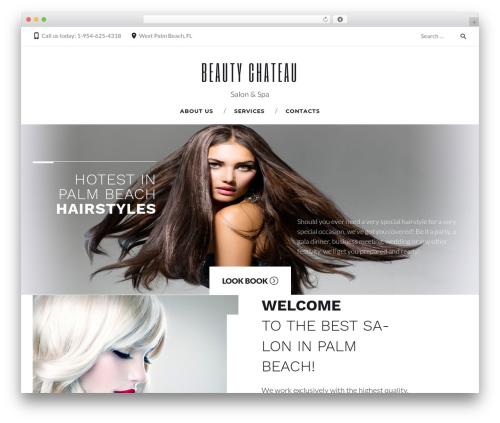 Durand premium WordPress theme - beautychateausalon.com