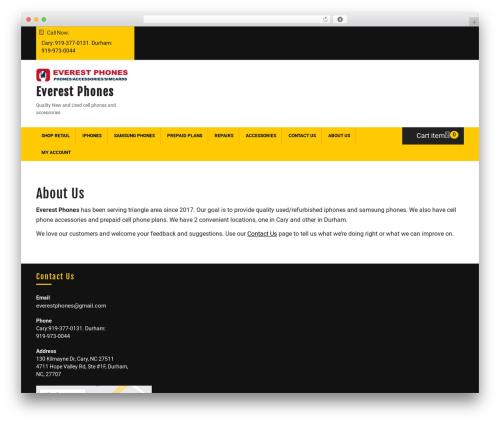 Ecommerce Solution WordPress ecommerce theme - everestphones.com