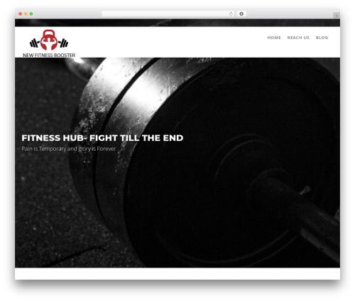Fitness Hub WP theme - newfitnessbooster.com
