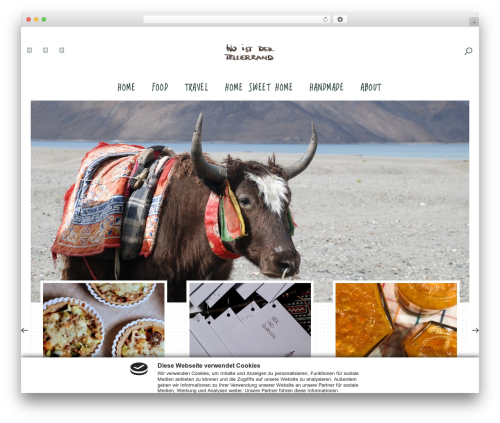 Malina WordPress theme design - woistdertellerrand.com