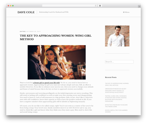 Oath WordPress theme design - davecole.org