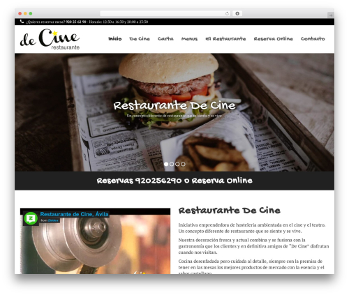 Qaro WordPress restaurant theme - restaurantedecine.com
