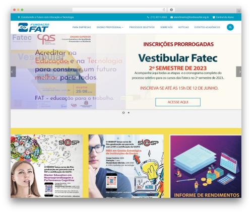 Template WordPress Bright - fundacaofat.org.br