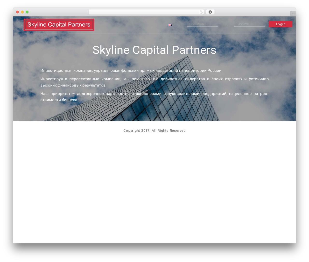 Theme WordPress Modular - skyline-capital.com