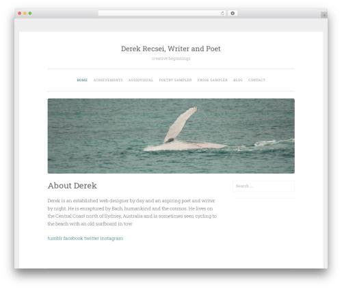 WordPress template Penscratch - derekrecsei.com