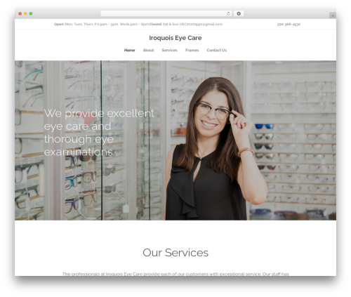 WordPress theme Optometry - iroquoiseyecare.com