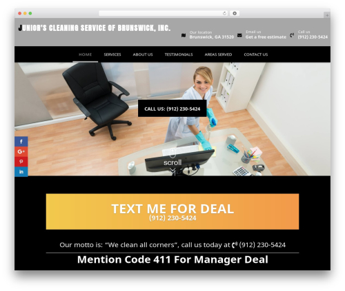 WordPress website template Divi - juniorscleaningservices.com
