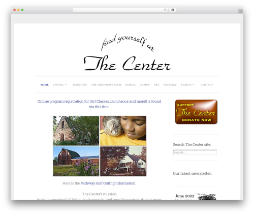WordPress website template Penscratch 2 - thecenterpalos.org
