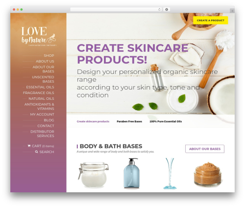 BeautySpot WordPress theme design - lovebynature.com