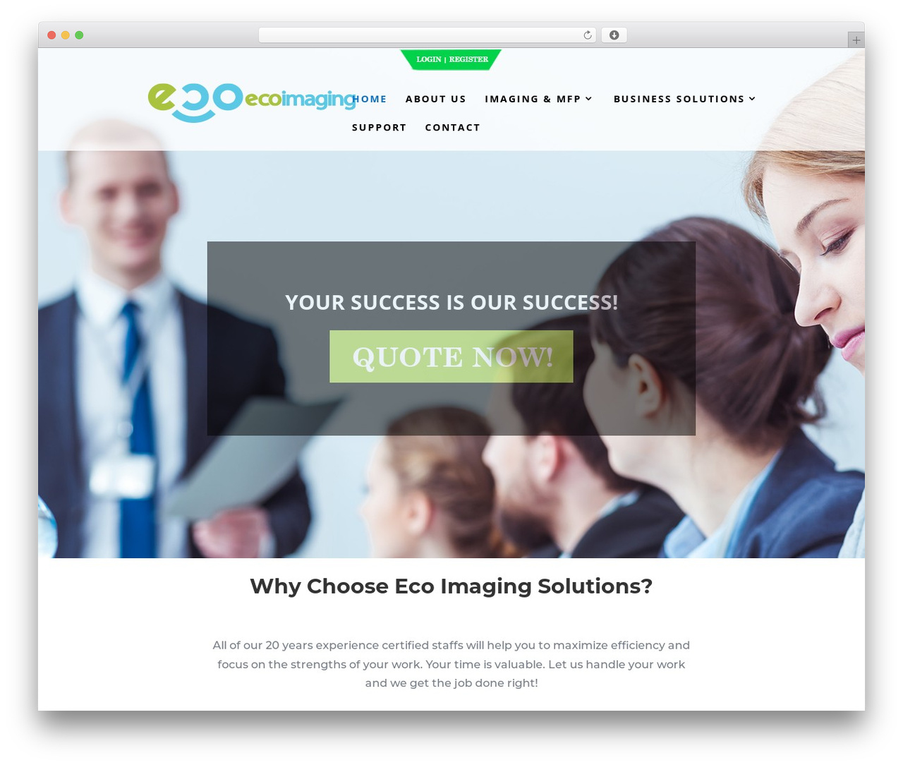 Divi company WordPress theme - ecoimagingsolutions.com