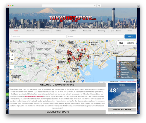 GeoDirectory_child WordPress ecommerce theme - tokyohotspots.com