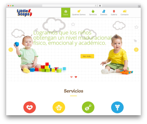 Kiddie theme WordPress - littlestepsqro.com