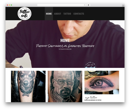 Revolver WordPress template - tattooartestudio.com