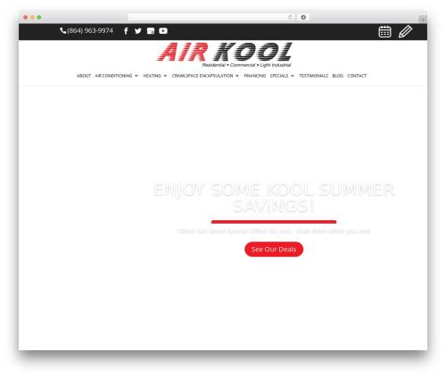 Template WordPress Divi - airkoolheatandair.com