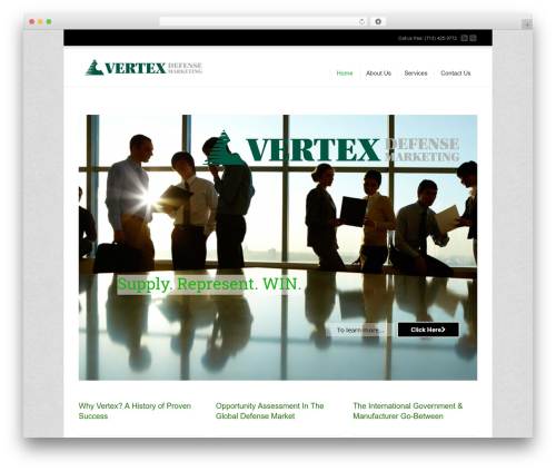 WordPress theme Corona - vertexdefense.com