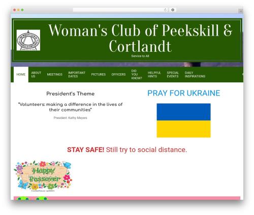 WordPress theme Nevark - womansclubofpeek-cort.org