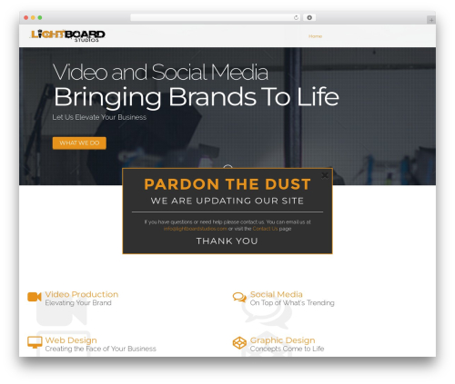 Wunder best WordPress theme - lightboardstudios.com