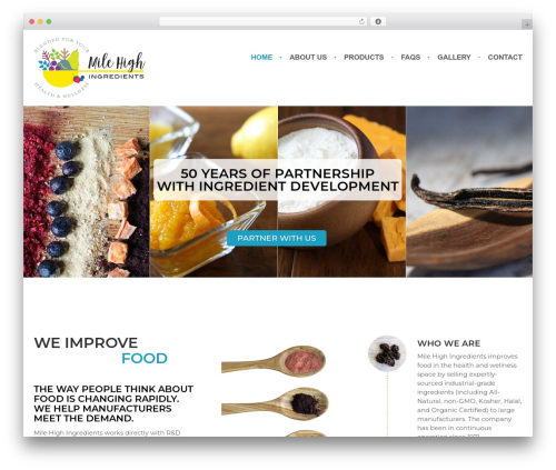 Amy Organic WP template - milehighingredients.com