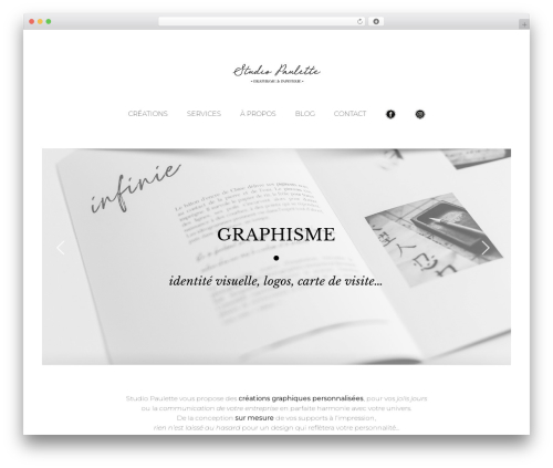 Avada WordPress theme - studio-paulette.com