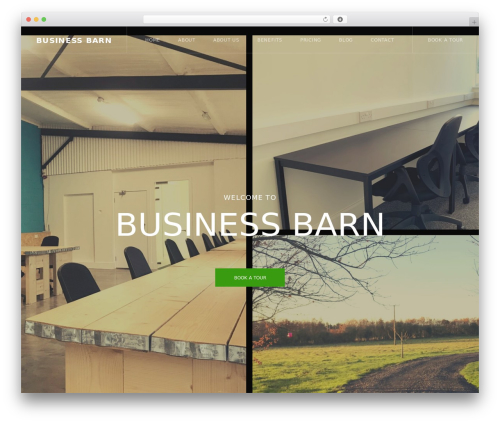 CoWorking company WordPress theme - businessbarn.net