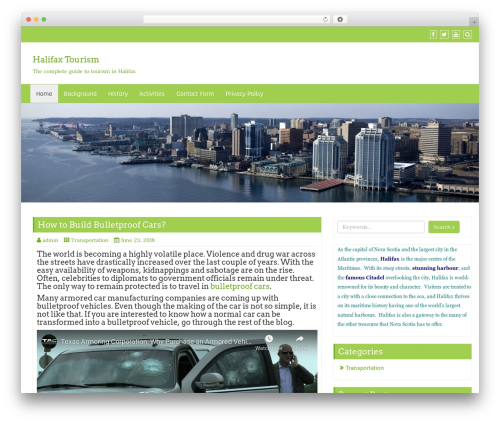Di Business WordPress theme design - halifaxtourism.ca