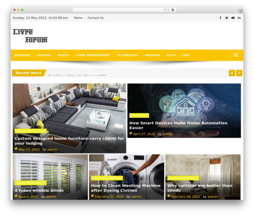 Editorialmag free WordPress theme - livre-forum.com